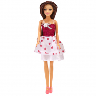 Лялька One Two Fun My Fashion Dolls, біло-рожева сукня з сердечками