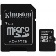 Карта пам'яті Kingston microSDHC 32GB Class 10 UHS-I R80MB / s + SD-адаптер