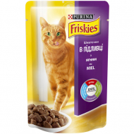Корм для котів Friskies Purina з ягням, 100 г