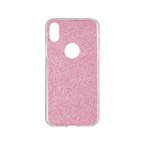 Чохол Remax Glitter Silicon Case iPhone X Pink