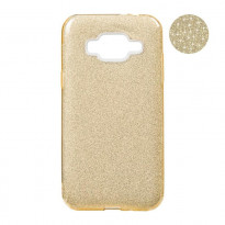 Чохол Remax Glitter Silicon Case Samsung J330 (J3-2017) Gold