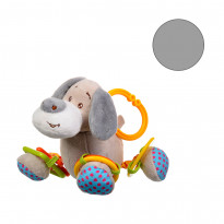 Іграшка плюшева One Two Fun My soft toys rattle Сіра собачка