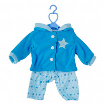 Одяг для пупсів One Two Fun My baby`s Pretty Outfit, біло-блакитний костюм