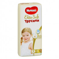 Підгузки Huggies Elite Soft 5 Mega, 12-17 кг, 38 шт.
