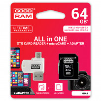 Карта пам'яті GoodRam MicroSDXC 64GB UHS-I + adapter
