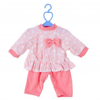 Одяг для пупсів One Two Fun My baby`s Pretty Outfit, рожево-білий костюм