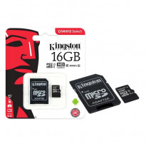 Карта пам'яті Kingston microSDHC 16GB Class 10 UHS-I R80MB / s + SD-адаптер